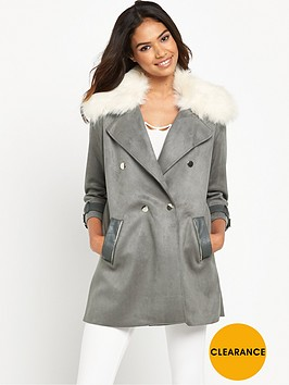 river-island-suedette-trench-coat-with-faux-fur-collar