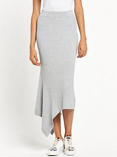river-island-ribbed-skirt-with-asymmetric-hem