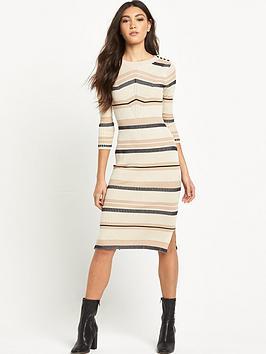 river-island-striped-knitted-midi-dress
