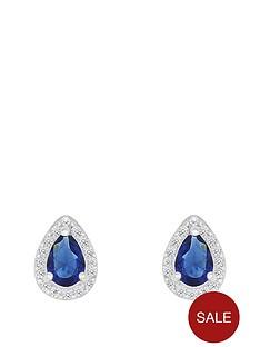 love-gem-sterlingnbspsilver-blue-and-white-cubic-zirconianbsppeardropnbspstud-earrings