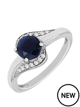 love-gem-sterlingnbspsilver-plated-with-rhodium-blue-sapphire-and-diamond-ring