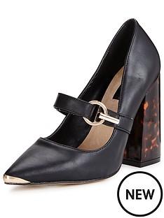 lost-ink-lost-ink-daphne-flared-block-heel-buckle-shoe