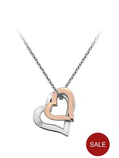 hot-diamonds-sterling-silver-and-rose-gold-plated-double-heart-pendant