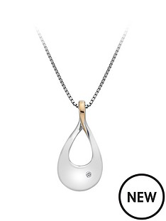 hot-diamonds-sterling-silver-rose-gold-plate-journey-pendant