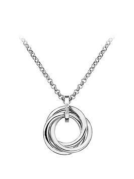 Hot Diamonds Hot Diamonds Sterling Silver Diamond Trio Ring Pendant Picture