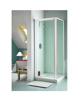 Aqualux 760Mm Pivot Shower Door Side Panel And Tray