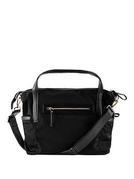 babybeau-sophia-black-canvas-changing-bag