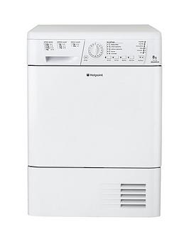 Hotpoint Aquarius Tchl780Bp 8Kg Sensor Condenser Tumble Dryer  White