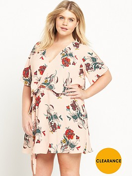 ri-plus-cold-shoulder-floral-print-dress