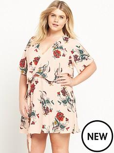 ri-plus-ri-plus-cold-shoulder-floral-print-dress