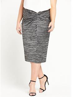 ri-plus-jersey-wrap-midi-skirt-grey