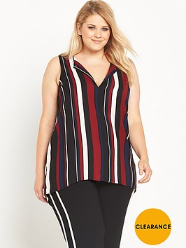 ri-plus-stripe-sleeveless-top