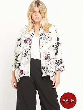 ri-plus-floral-print-bomber-shirt