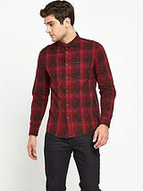 Button Down Long Sleeve Check Shirt