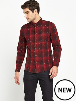 lee-button-down-long-sleeve-check-shirt