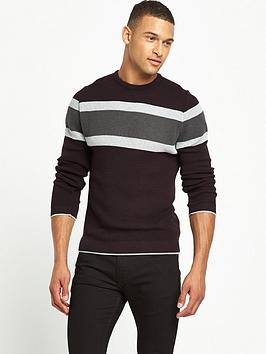 river-island-blocked-stripe-knitted-jumper