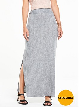 v-by-very-ribbed-side-split-maxi-skirt
