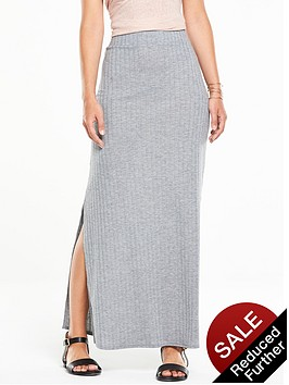v-by-very-ribbed-side-split-maxi-skirt