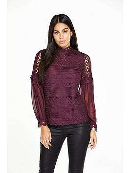 v-by-very-lace-chiffon-sleeve-blouse