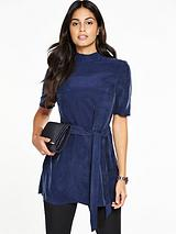 Belted High Neck Tunic