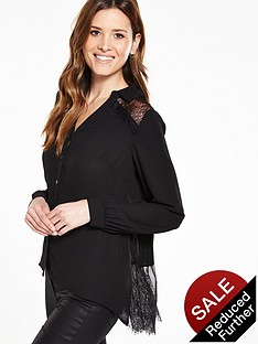 v-by-very-lace-pleat-back-blouse