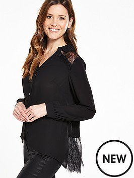 v-by-very-lace-pleat-back-blouse