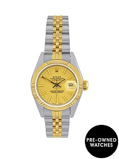 rolex-bimetal-datejust-champagne-dial-ladies-watch-pre-owned-including-paperwork
