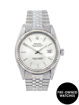rolex-stainlessnbspsteel-datejust-silver-baton-dial-mensnbspwatch-pre-owned