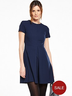 v-by-very-short-sleeve-pleat-front-skater-dress