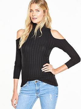 v-by-very-rib-cold-shoulder-topnbsp