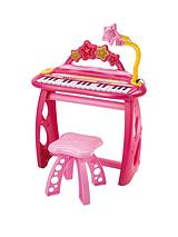 electronic keyboard & stool - Pink