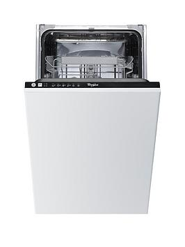 Whirlpool Adg211 BuiltIn 10Place Slimline Dishwasher  Stainless Steel