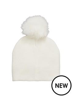 v-by-very-fine-knit-fur-pom-pom-beanie-hat