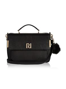 river-island-pom-pom-medium-satchel