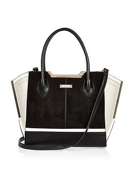 river-island-mix-fabric-metal-edge-tote-bag-with-insert-strap