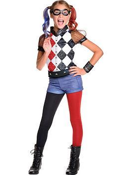 Dc Super Hero Girls Deluxe Harley Quinn  Childs Costume