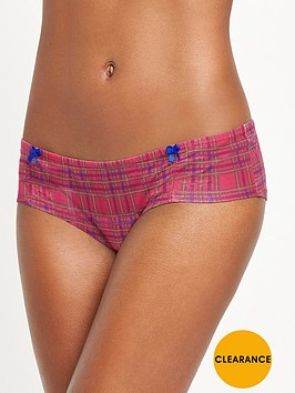 boux-avenue-tartan-ruched-short