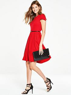 v-by-very-belted-fit-and-flare-dressnbsp