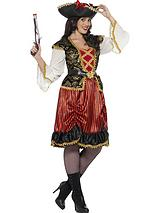 Curves Pirate Lady - Adults Plus Size Costume