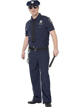 curves-nyc-cop-costume-blue-with-trousers-shirt-mock-tie-belt-amp-hat-adults-costume