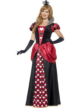 Royal Red Queen Dress &Amp Crown  Adults Costume