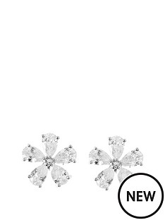 anne-klein-silver-tone-cubic-zirconianbspflower-stud-earrings