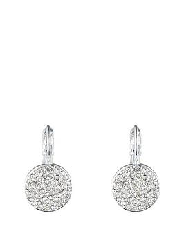 anne-klein-silver-tone-pave-set-crystal-disc-earring