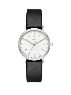 dkny-dkny-minetta-white-dial-black-leather-strap-ladies-watch