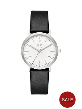 dkny-dkny-minetta-white-dial-black-leather-strap-ladies-watch