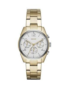dkny-dkny-crosby-white-dial-gold-tone-stainless-steel-ladies-watch