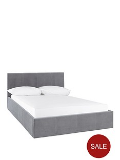 christie-fabric-lift-up-storage-bed-frame-with-optional-mattress