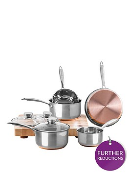 viners-stainless-steel-5-piece-copper-base-pan-set