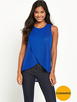river-island-waffle-wrap-front-top