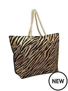 kangol-leopard-print-rope-handle-shopper